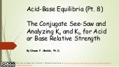 Chem 2 - Acid-Base Equilibria VIII: The Conjugate See-Saw and Analyzing Ka and Kb for Acid or Base Relative Strength