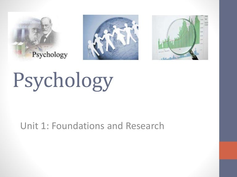 Unit 1 Psychology: Foundations and Methods