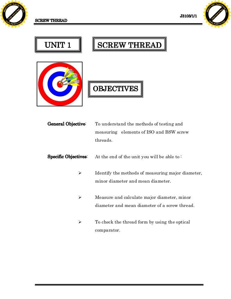 Unit1 Screw Thread