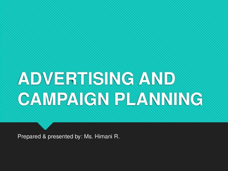 unit 2 advertising and campaign planning