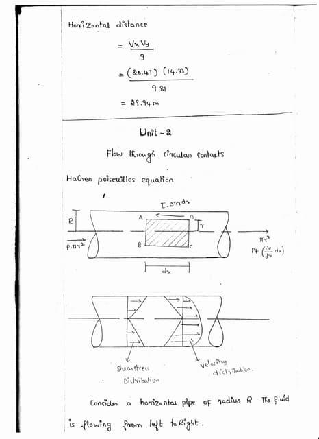 CE6451 - FLUID MECHANICS AND MACHINERY UNIT - II NOTES