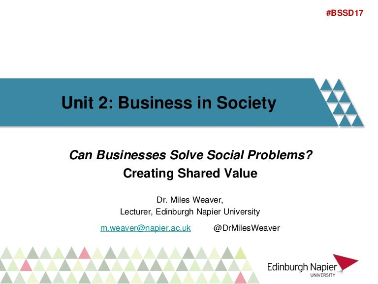 Lecture Role Of Business In Society