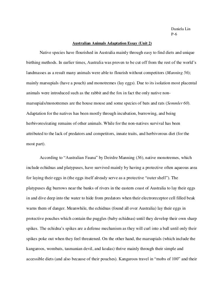 Research Essay Proposal Example Essay Australia Unitessay N Animal Adaptation Same Sex Marriage  Model Essay English also Thesis In A Essay Australia Essay  Underfontanacountryinncom Example Of A Good Thesis Statement For An Essay