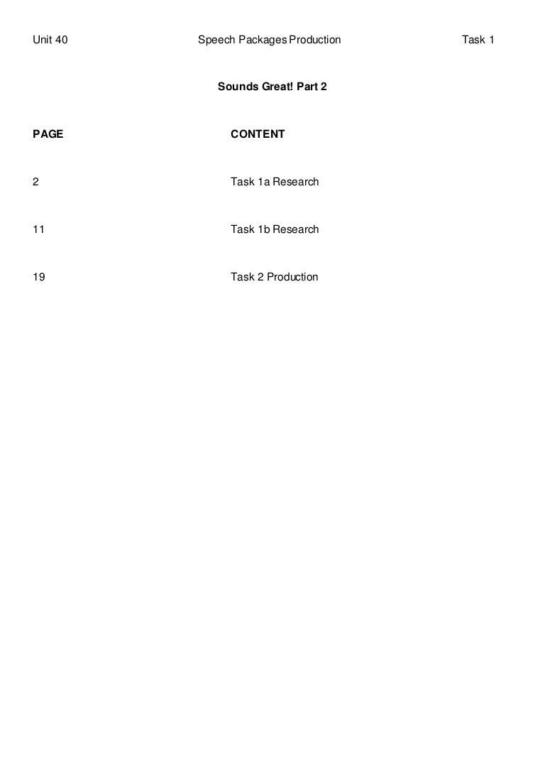 Unit 40 Speech Packages Production Part 2 Simple Brain Diagram For Kids Aofcom