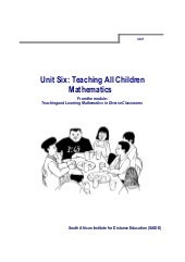 Ace Maths Unit Two: Developing Understanding in