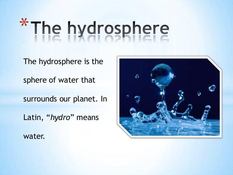 Resultado de imagen de the Hydrosphere