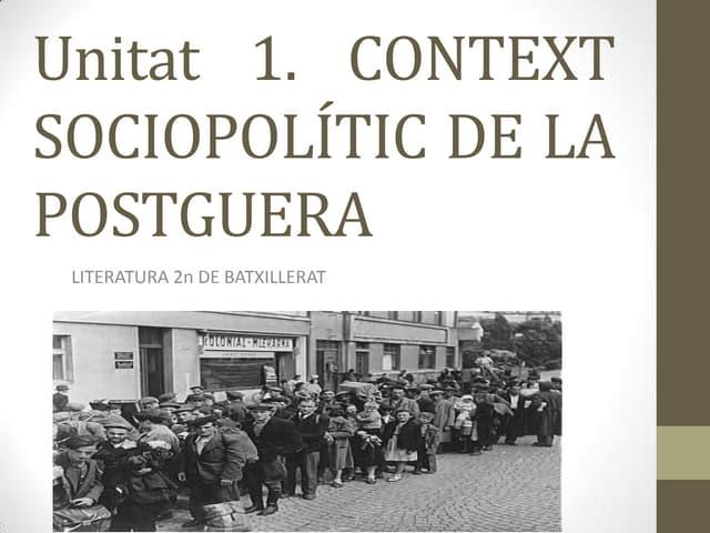 Unitat 1. context sociopolític de la postguerra