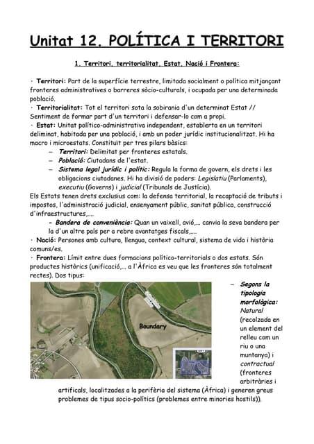 Unitat 12. política i territori pdf