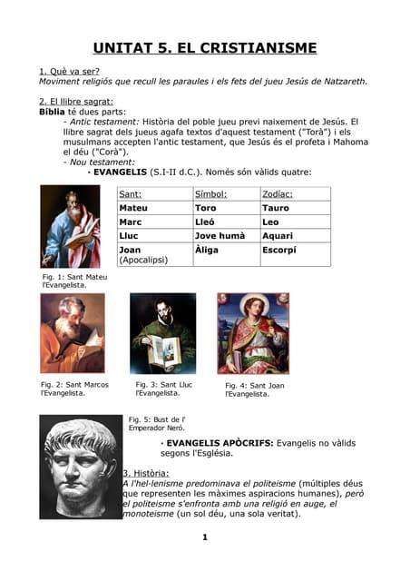 Unitat 5  El Cristianisme