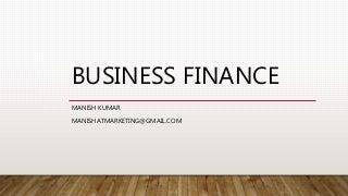 Unit v business finance & financial market