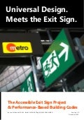 Universal Design Meets the Exit Sign White Paper by Lee Wilson Version 1.0