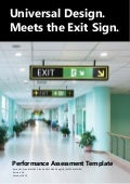 Universal Design Meets the Exit Sign White Paper Performance Assessment Template by Lee Wilson Version 1.0