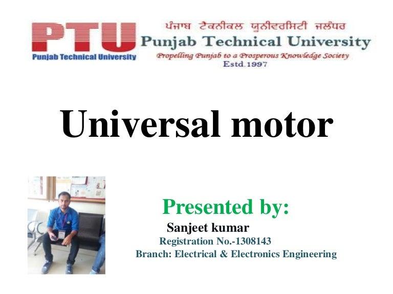 Diagram Universal Motor Sanjeet