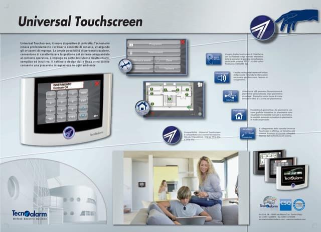 Tecnoalarm Universal touchscreen Antifurto Diakron Monza