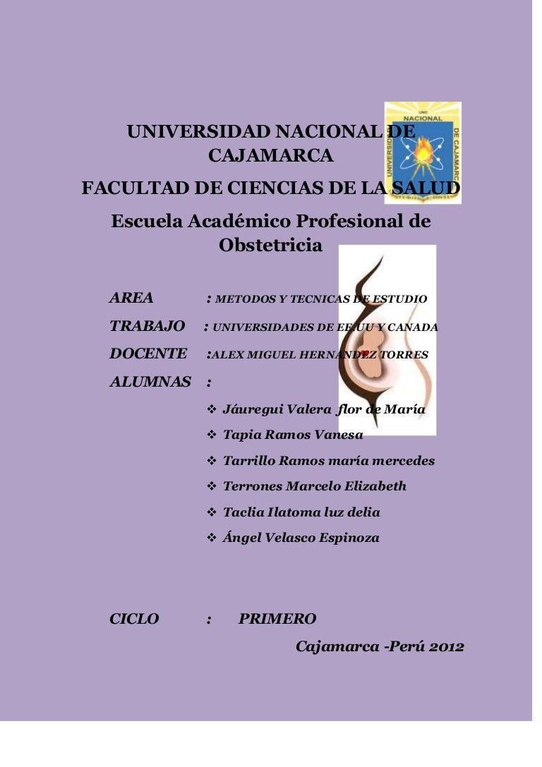Universidades de ee.uu y canada