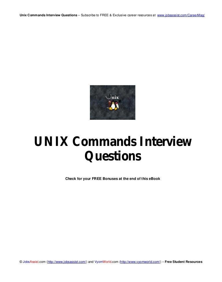 Unix commands interview_questions