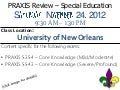 PRAXIS - Special Education Workshop (NOLA Area Teachers)