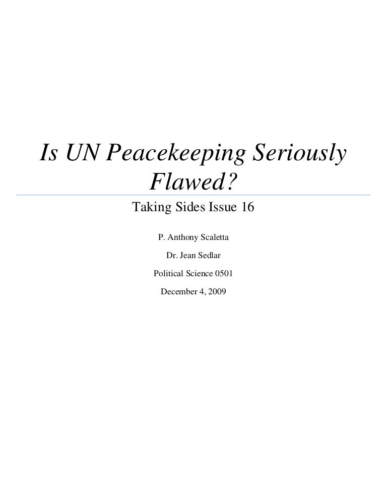 Is Un Peacekeeping Seriously Flawed