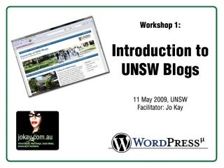 Introduction to UNSW Blogs