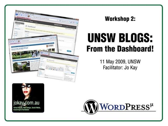 UNSW Blogs - Under the Dashboard
