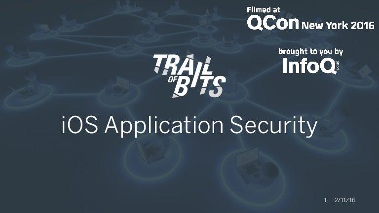 Modern iOS Application Security