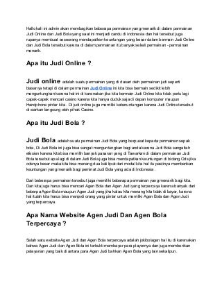 Agen Bola - Agen Judi - Bola88 - Sbobet - Judi Online - Judi Bola