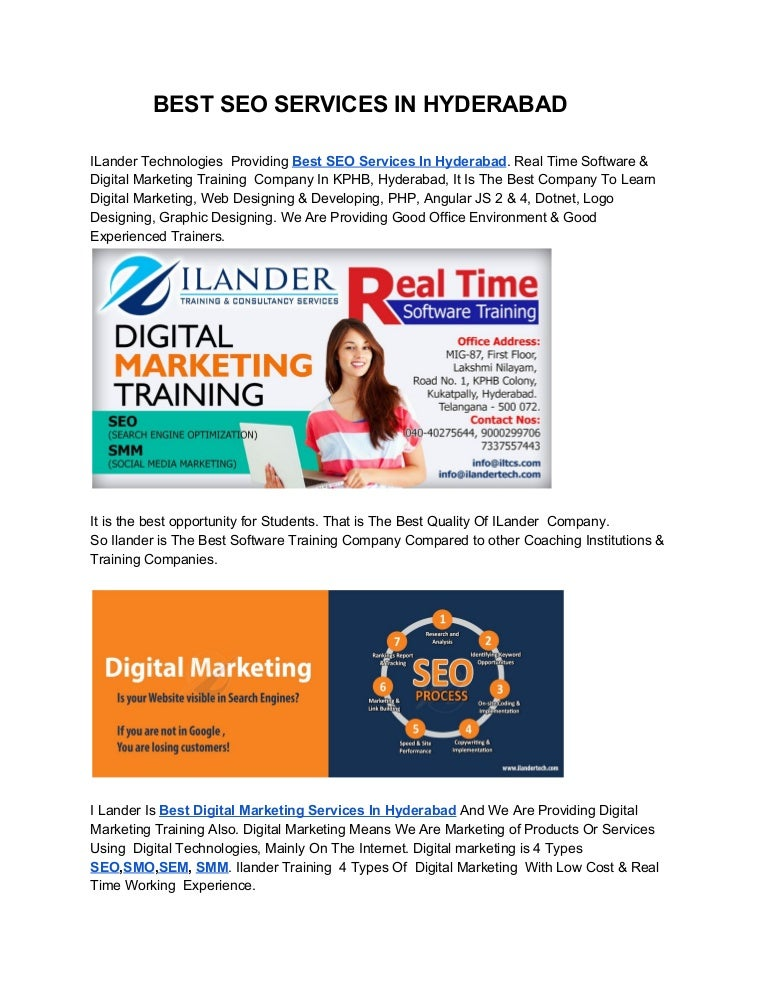 Ilandertechnologies Digital Marketing Company In Hyderabad India