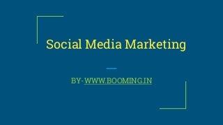 Social Media Marketing-Social Media Optimization