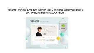 Venoma - minimal & modern Fashion WooCommerce WordPress theme