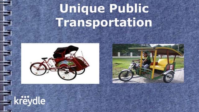 Indonesia Unique Public Transportation