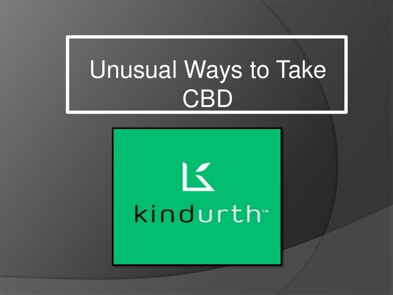 Unusual Ways To Take CBD