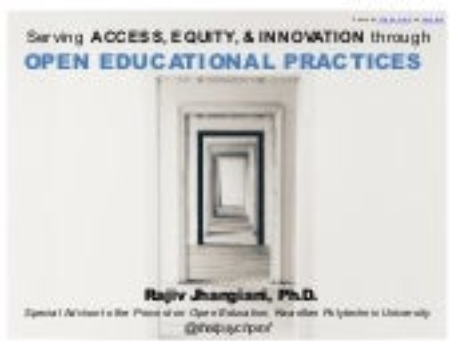 Open Education Summit keynote (U of Windsor, Lambton College) St. Clair College