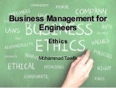 Business Management - Ethics