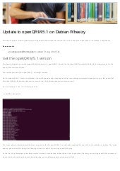 Update an existing openQRM Environment to 5.1 on-debian-wheezy