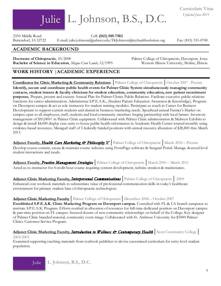 chiropractic resume chiropractic resume example cover letter updatedcvaugust2011 1314645105621 phpapp01 110829141252 phpapp01 thumbnail 4 jpg cb 1314627179