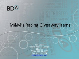 Update m&m's racing items