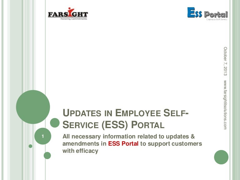 Farsight Employee Self-Service (ESS) Portal Updates