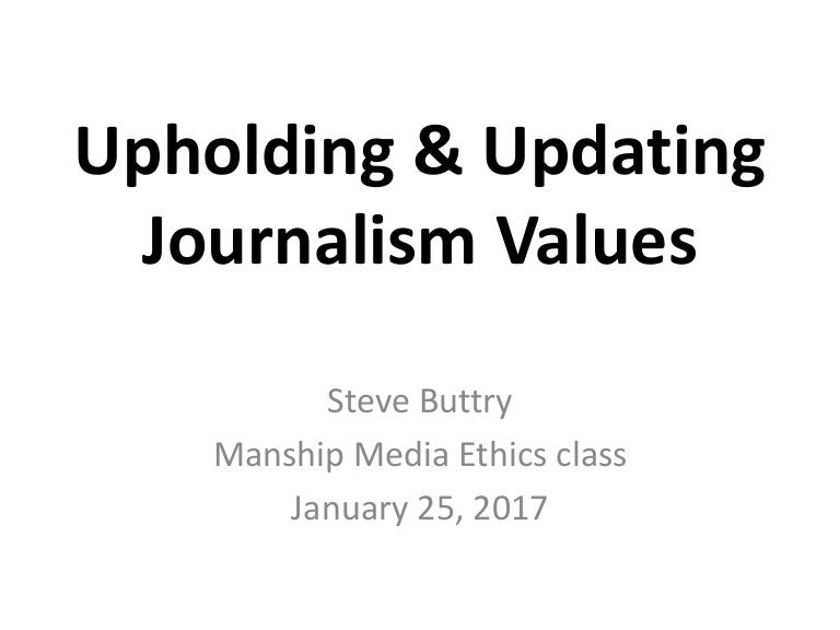 gans journalistic values Gans's thesis seems to be that news is too one-dimensional, that values in the news are middle-class values, that the media need to be more multiperspectival, which i think means getting more.