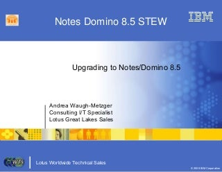 Upgrading To Notes Domino 8.5