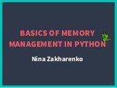 Memory Management In Python The Basics