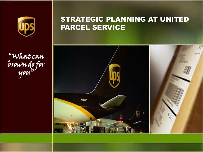 strategic planning at united parcel service 1 united parcel service (a) the management committee at united parcel service (ups) wrestled with the last item on the agenda 9-306-002 rev: june 19, 2006 david a garvin lynne c levesque strategic planning at united parcel service we fully recognize that it is not possible to.