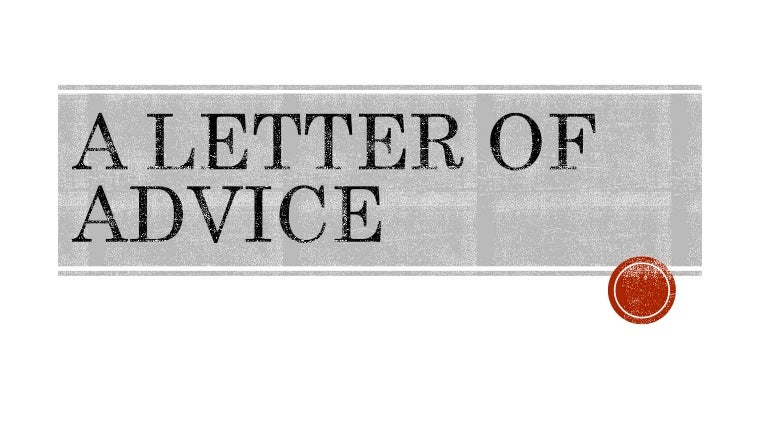 Upstream B A Letter Of Advice