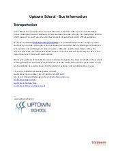 Uptown School - Bus Information