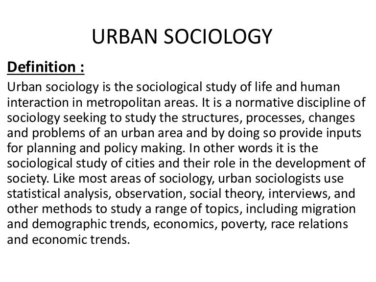 urban sociology