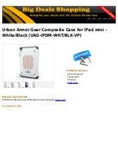 Urban armor gear composite case for i pad mini   white black (uag-ipdm-wht blk-vp)
