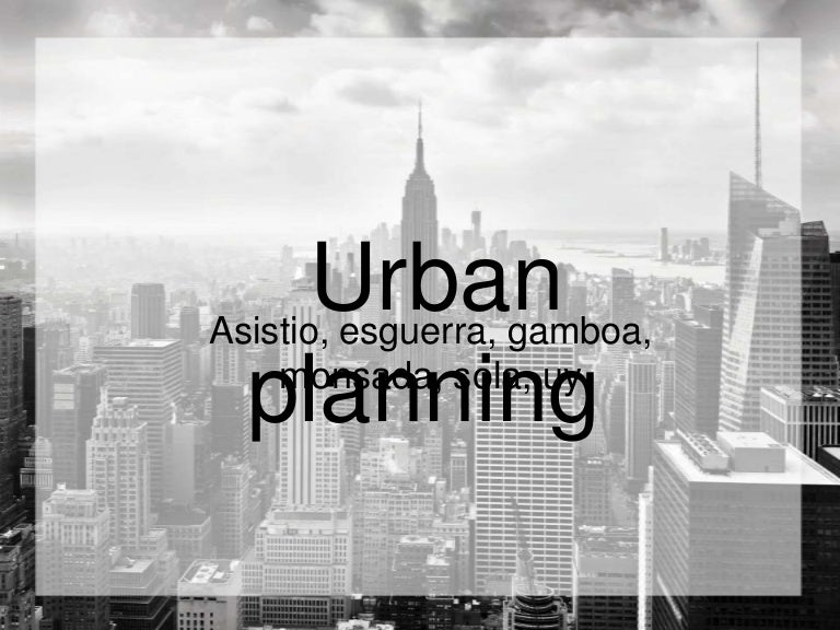 Urban planning finalppt