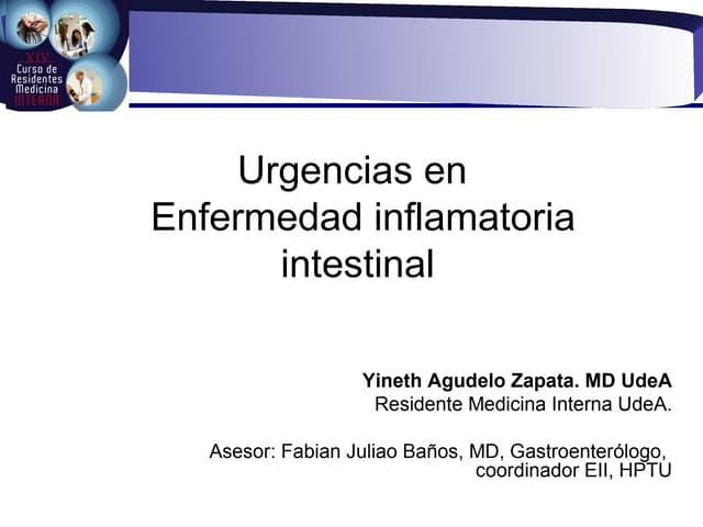 Urgencias en enfermedad inflamatoria intestinal
