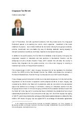 Uruguayan Tax Reform - Rothschild Trust Review - Carlos Loaiza-Keel
