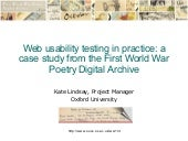 Web usability in practice: a case study from the First World War Poetry Digital Archive