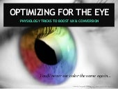 Usability Conversion Optimization for the Eye